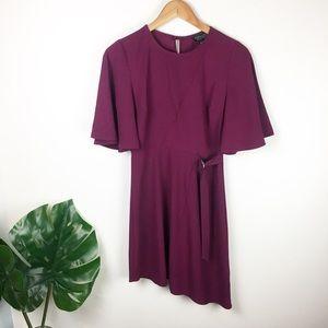 Topshop | asymmetrical belted Dress